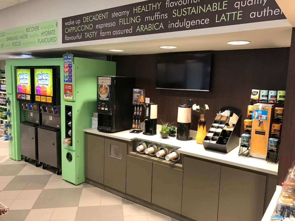 1. Convenience Store Coffee Service Counter and FCB Enclosure