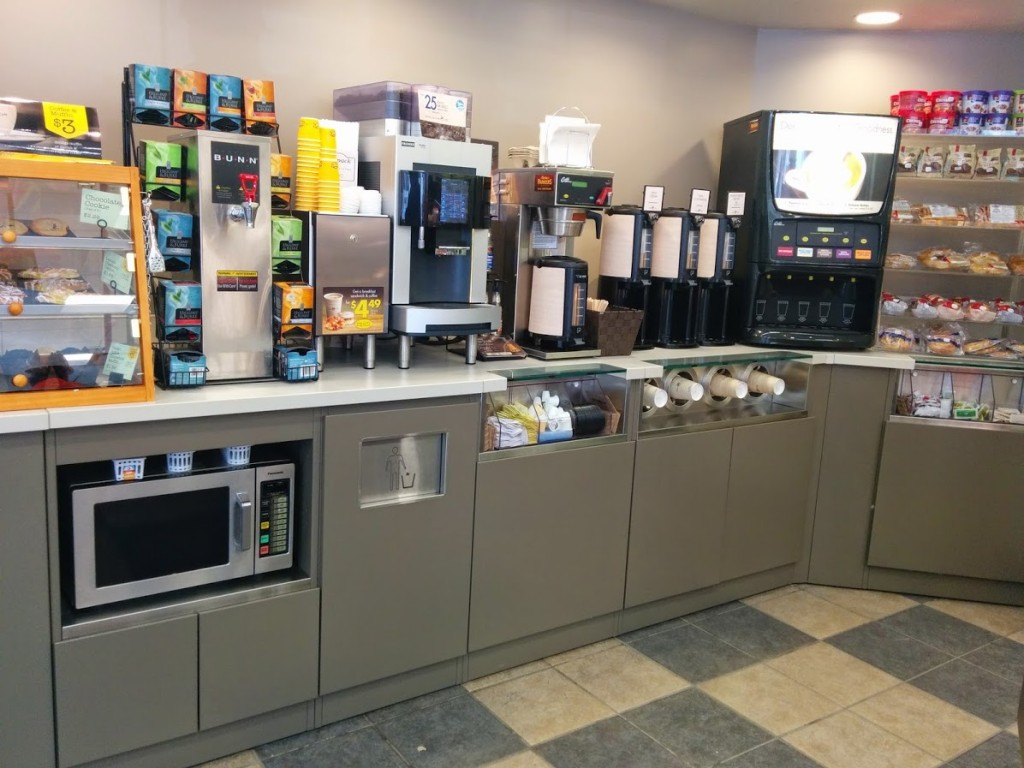 11. Convenience Store Coffee Service Counter