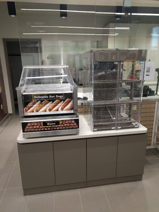 12. Food Service Counter with Pastry Display
