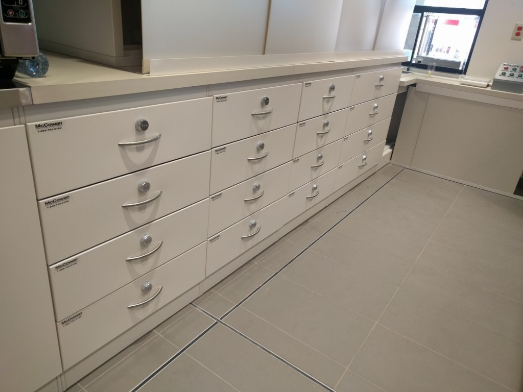18. Secure Back Counter Drawers