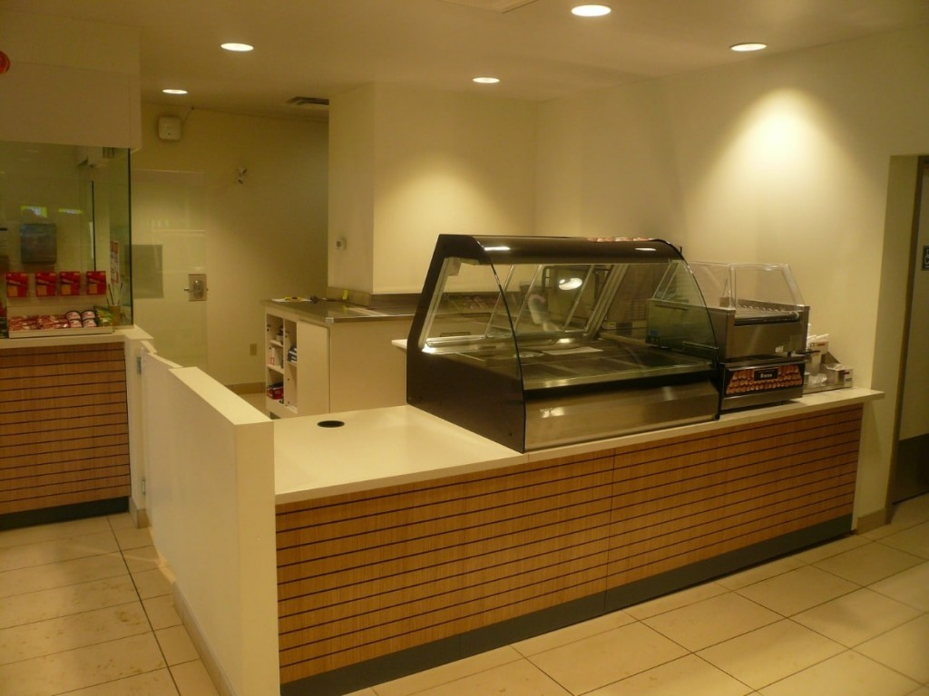 19. Food Service Counter with Cooler