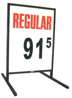 1b. MS-211 Curb-Side Fuel Pricing Sign - 58H x 39.25W x 40D
