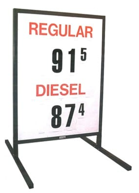 2. MS-212 Curb-Side Fuel Pricing Sign - 58H x 39.25W x 40D