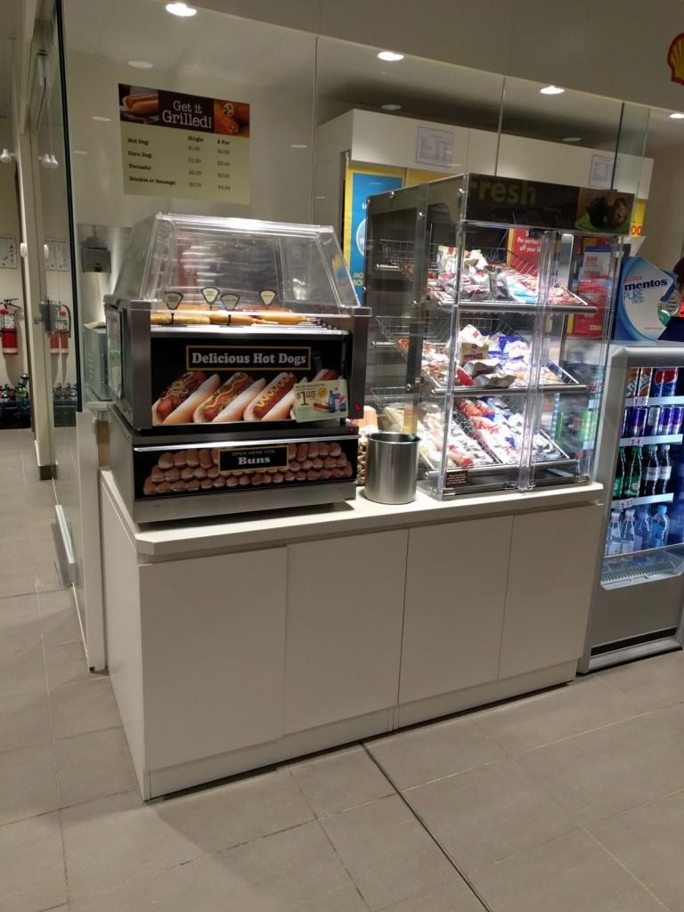 20. Food Service Counter at Cash Desk