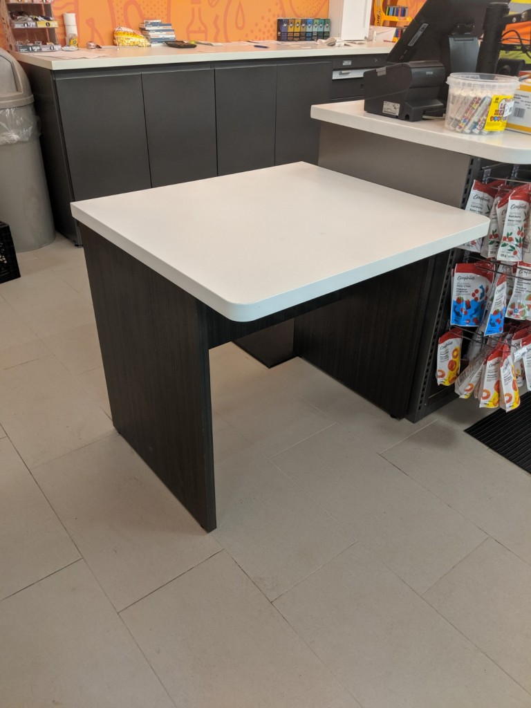 21. Access Height Desk at Cash Counter