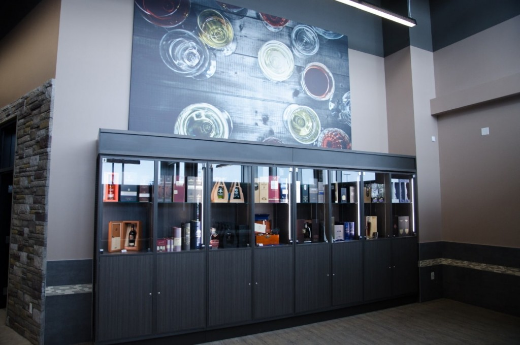 21. Bottle Display Case with Locking Doors