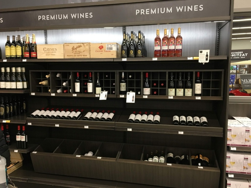 23. Premium Bottle Display