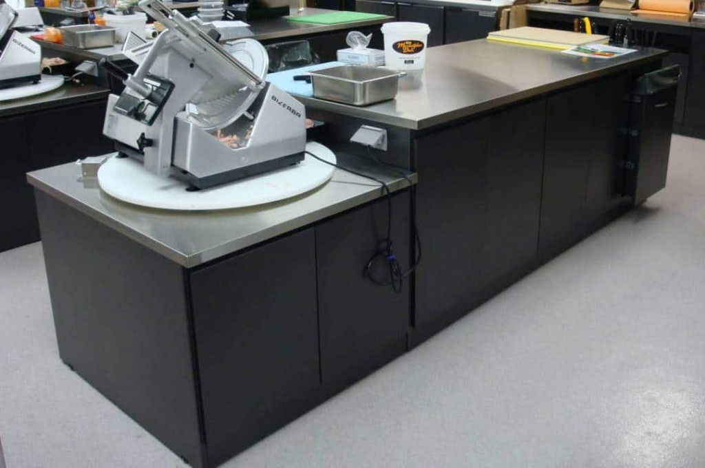 23b. Grocery Store Stainless Steel Deli Slicer Counter
