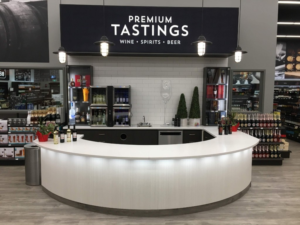 24. Curved Tasting Bar with Lighting