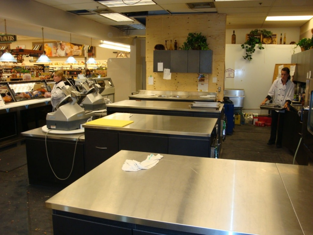 24a. Grocery Store Stainless Steel Food Prep Counter