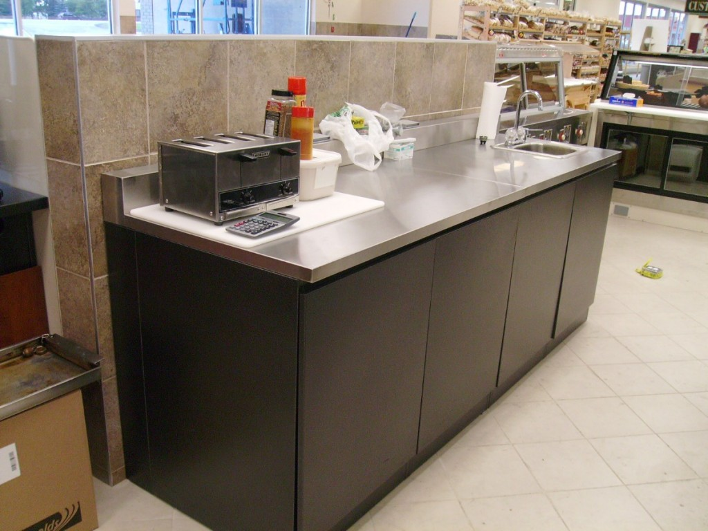 24b. Grocery Store Stainless Steel Food Prep Counter