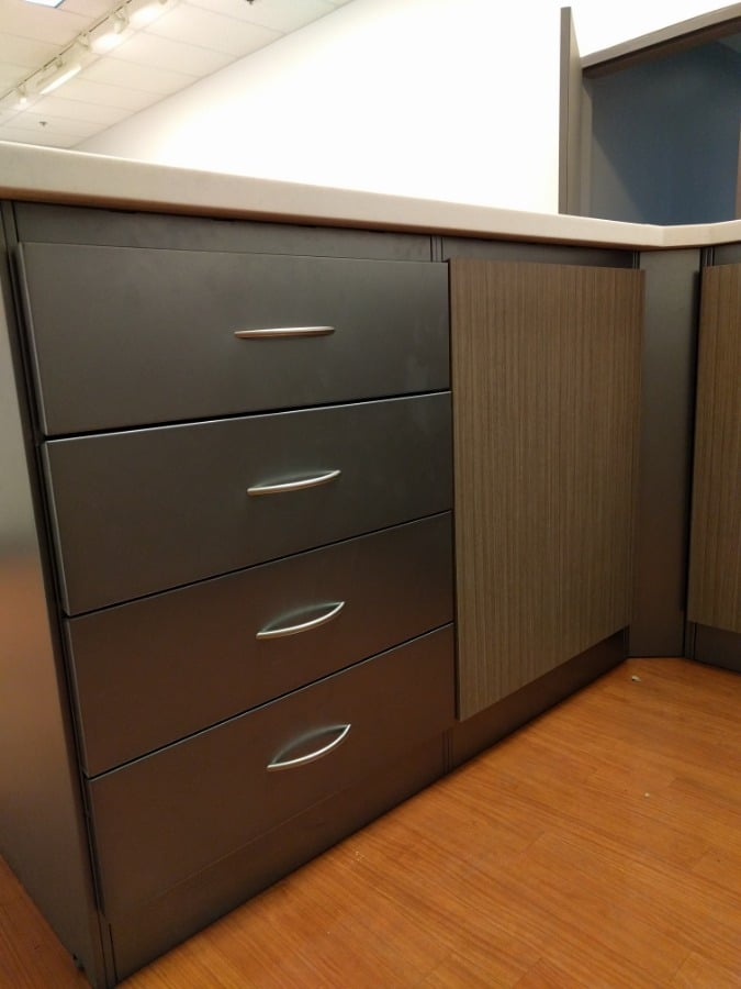 25. Metal Drawers and Wood Doors
