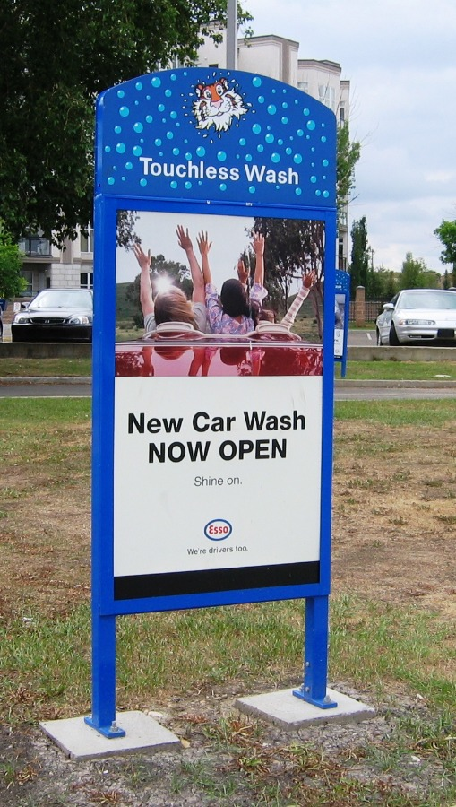 27. Tombstone Sign - Car Wash Promotional Sign