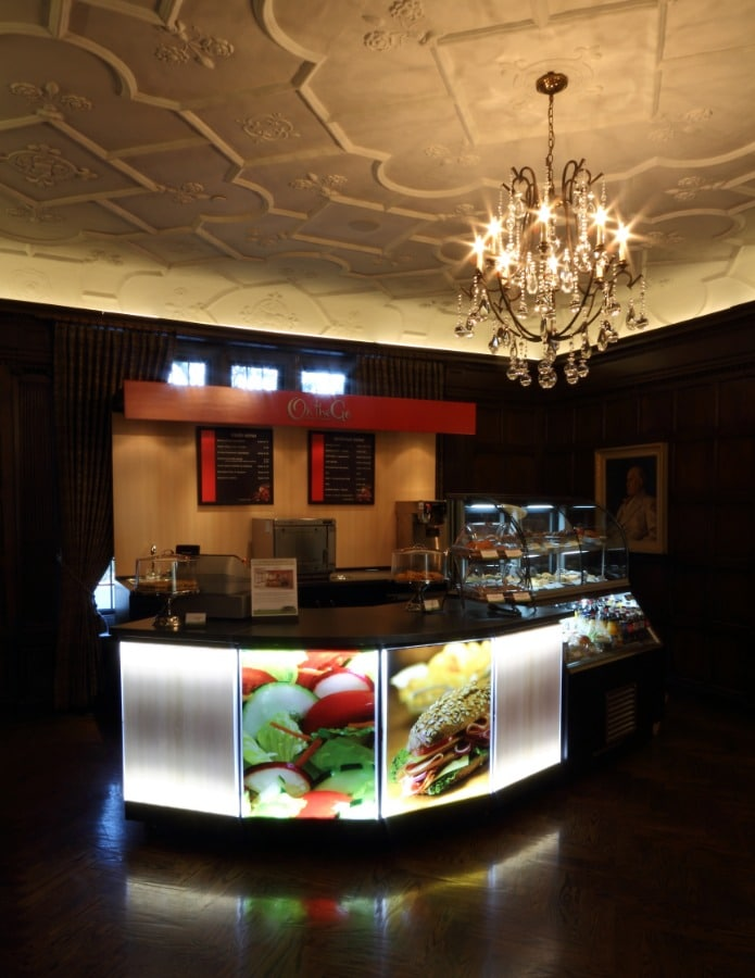 29. Lit Food Service Kiosk