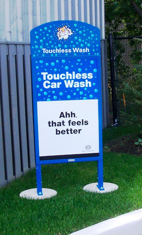 29. Tombstone Sign - Car Wash Thanks You Sign