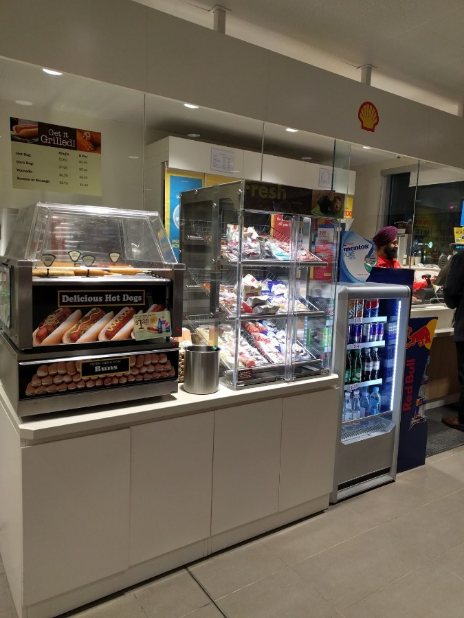 3. Convenience Store Food Service Counter with Pastry Display