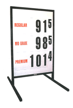 3. MS-213 Curb-Side Fuel Pricing Sign - 58H x 39.25W x 40D