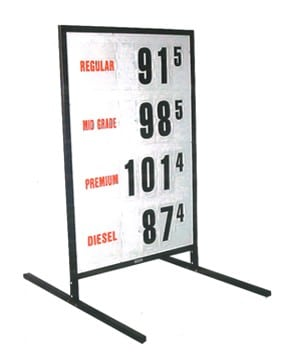 4. MS-214 Curb-Side Fuel Pricing Sign - 68H x 43.25W x 40D