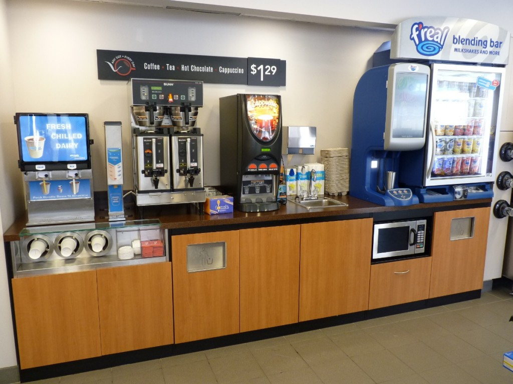 6. Convenience Store Beverage Service Counter