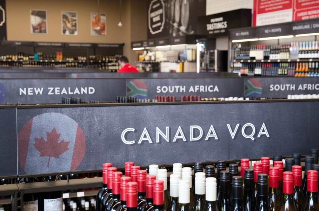 6. Large Format Liquor Store Gondol aSign Header