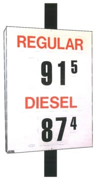 6. MS-312 Pole Mount Fuel Pricing Sign - 48H x 36W x 4.75D