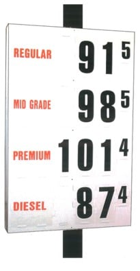 8. MS-314 Pole Mount Fuel Pricing Sign - 59H x 36W x 4.75D