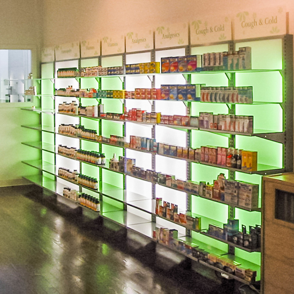 Back Lit Shelving