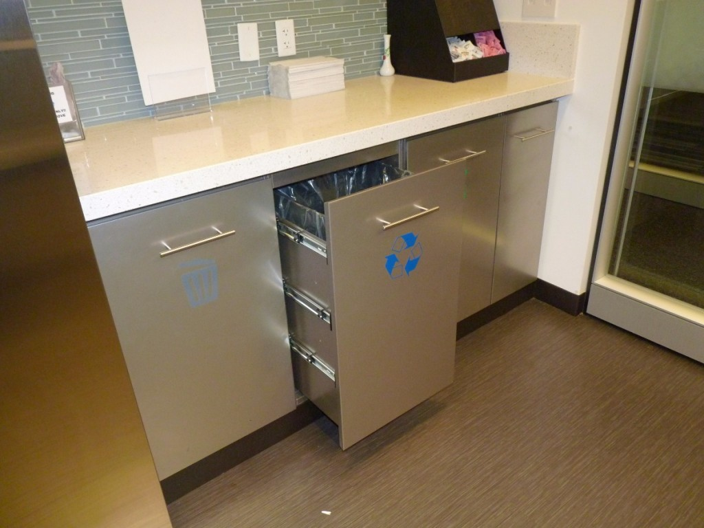 Mini Servery with Trash Drawers 2