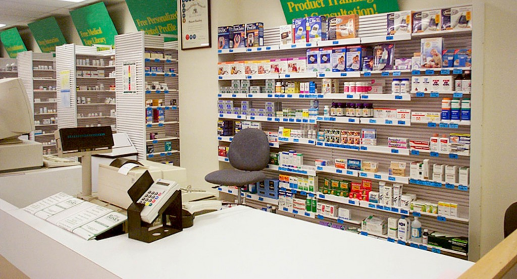 Pharmacy shelving 2