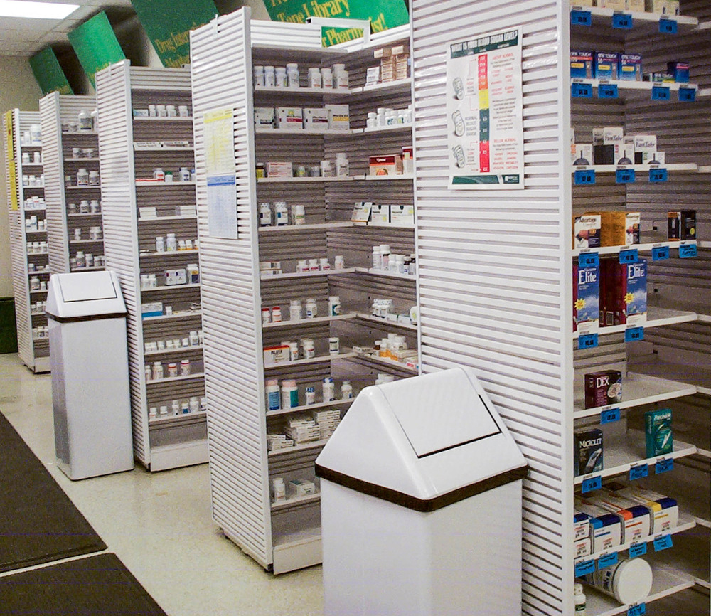 Pharmacy shelving 3