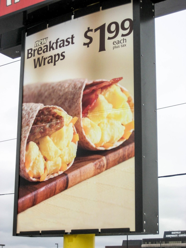 Promotional pole sign
