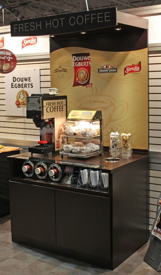 Stand Alone Coffee Counter with Lit Canopy